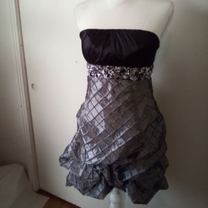 Sequin hearts strapless dress size 11